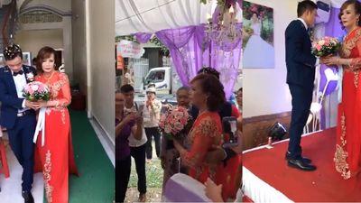 Thông tin bất ngờ về người phụ nữ đến phá đám cưới của cô dâu 61 và chú rể 26 tuổi