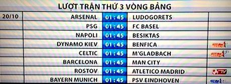 Lich thi dau cup C1, truc tiep Champions League dem nay - Anh 2
