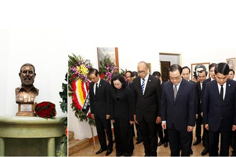 Lanh dao thanh pho Ha Noi vieng dong chi Fidel Castro - Anh 1