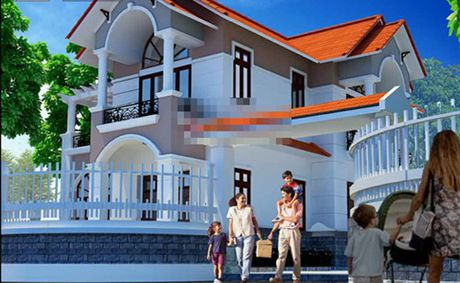 Những mẫu thiết kế nhà  2 tầng mái kép độc đáo nhất