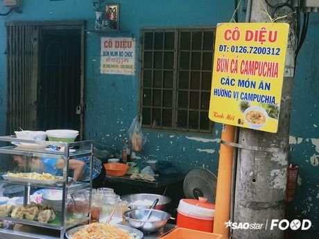 Bun Num Bo Choc - huong vi bun ca den tu Campuchia o cho Ho Thi Ky, TP.HCM - Anh 9